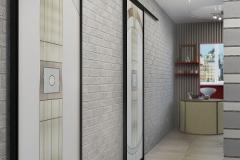 ЖК Первоцвит, коридор с витражными дверями (2)
