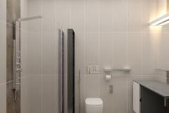 ЖК Эхопарк, душевая кабина в ванной комнате 1