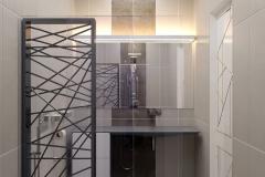 ЖК Эхопарк, душевая кабина в ванной комнате 2