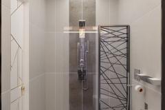 ЖК Эхопарк, душевая кабина в ванной комнате 3